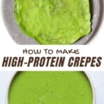 Making spinach crepes