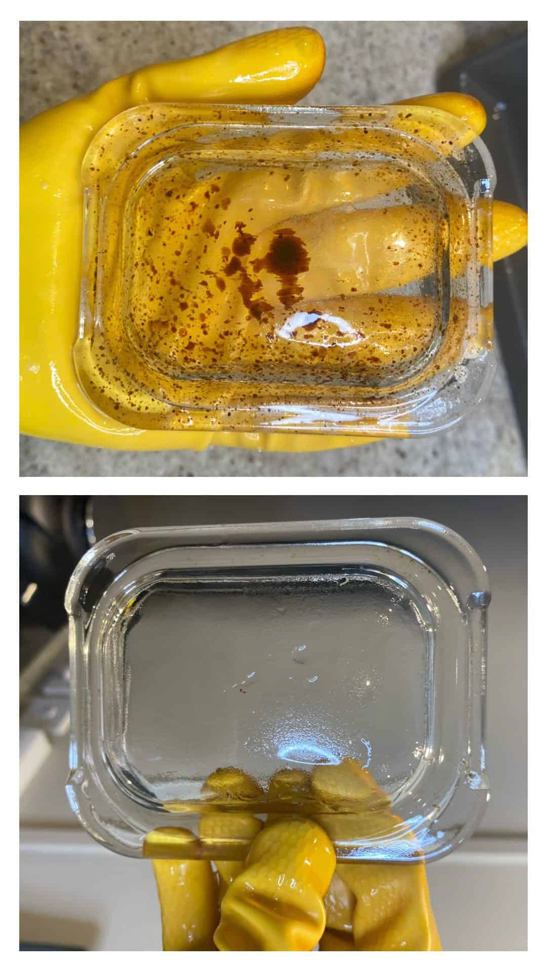 Comparing diry and clean oven light