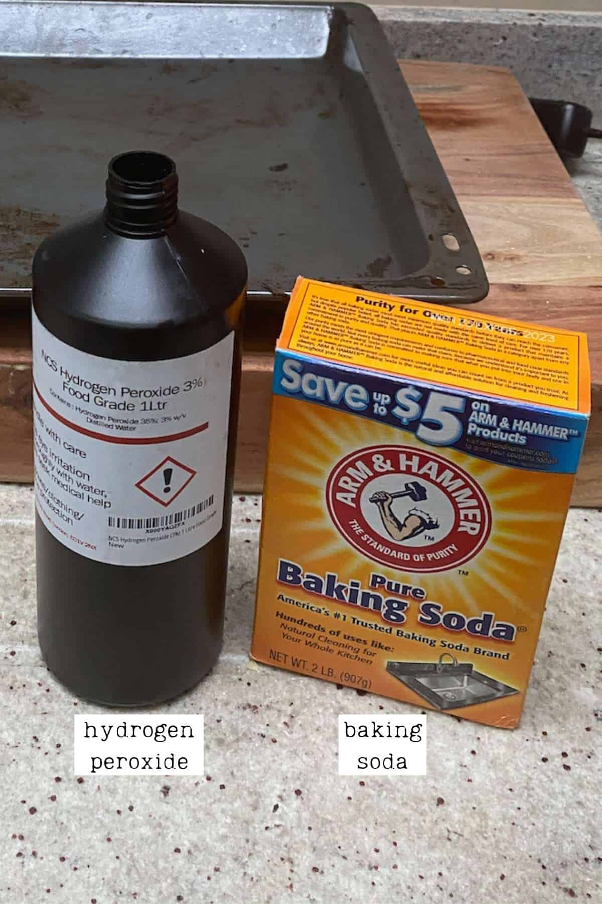 Materials for cleaning an oven