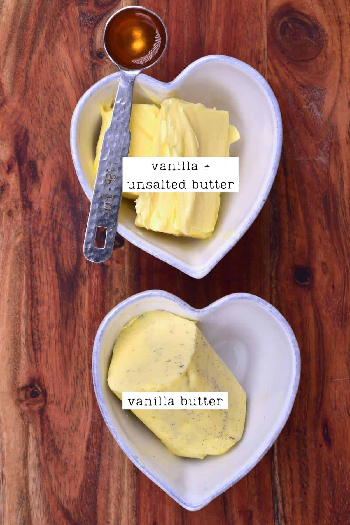 Vanilla butter and butter and vanilla
