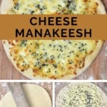Steps for making Manakish Cheese
