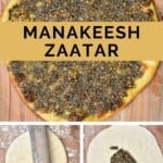 Steps for making Manakish Zaatar