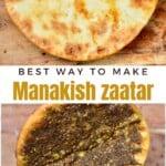 Manakish Zaatar folden in two
