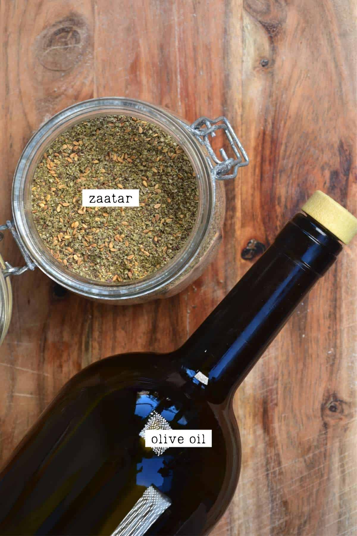 Zaatar and olive oil