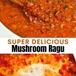 Mushroom bolognese in a pan