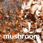 Mushroom ragu and mushrooms