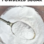 A spoonful of homemade powdered sugar