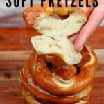 A stack of homemade pretzels