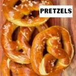 Four homemade pretzels