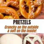 Steps for making pretzels