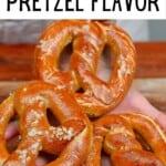 Three homemade pretzels