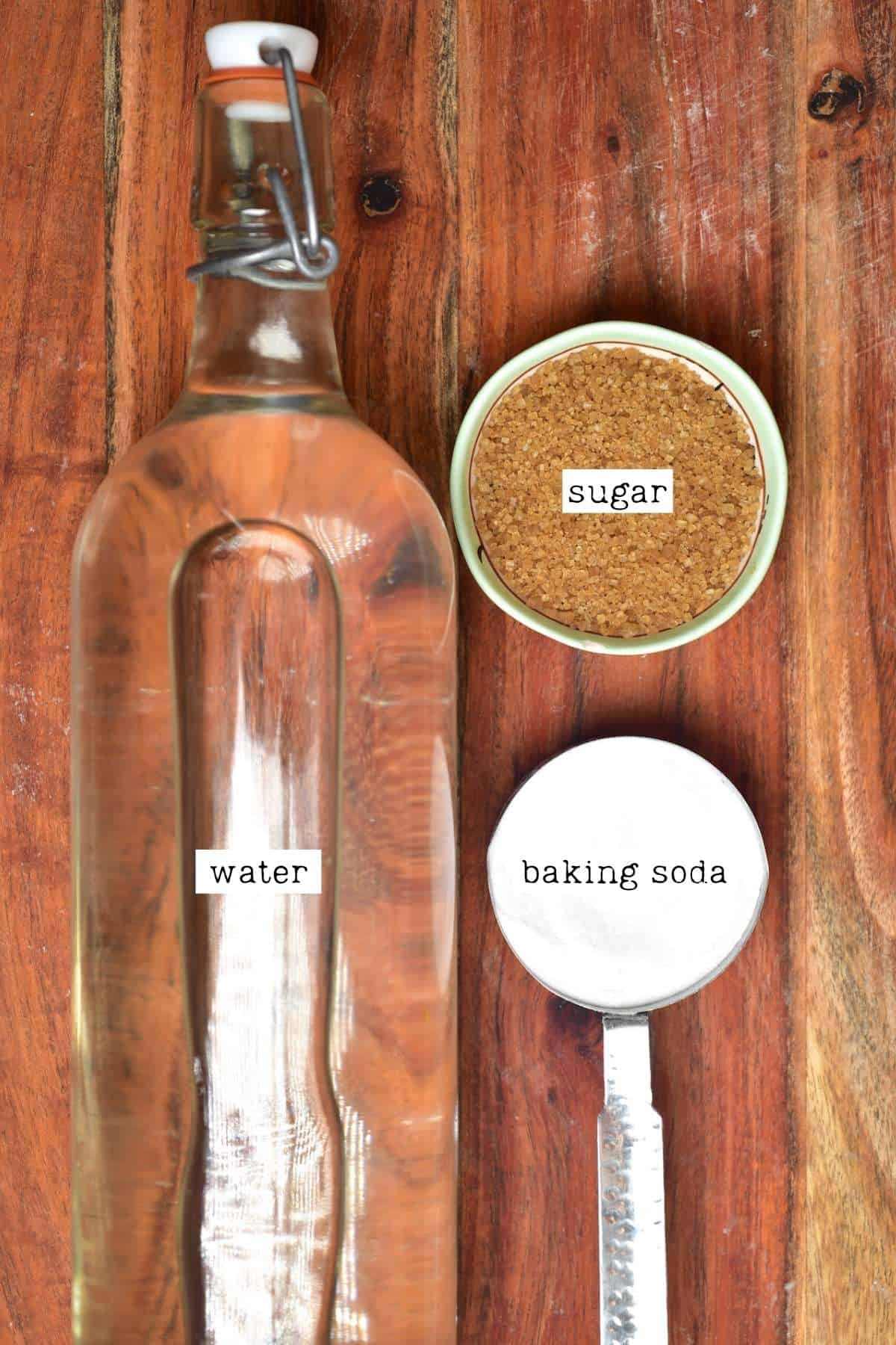 Ingredients for poaching bath