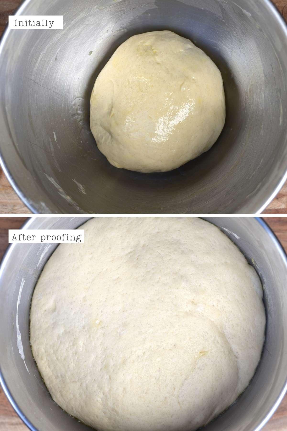 Proofing manakish dough