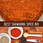 Shawarma spice mix and the ingredients to make it