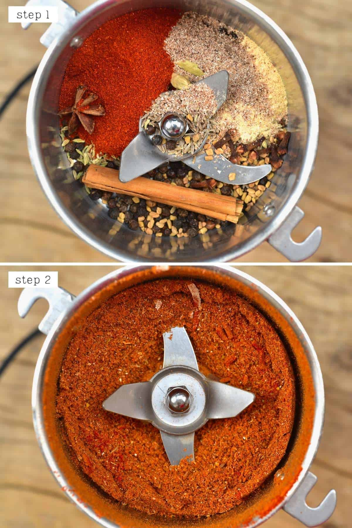 Steps for blending shawarma spice mix