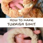 Steps for making simit