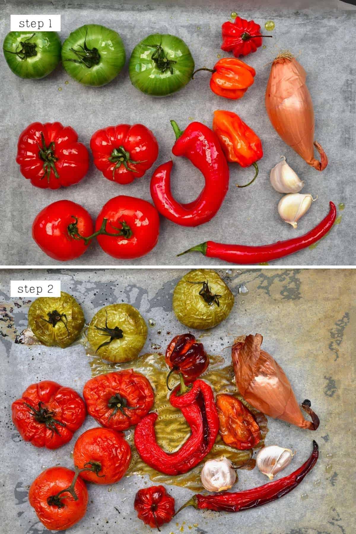 Steps for roasting veggies