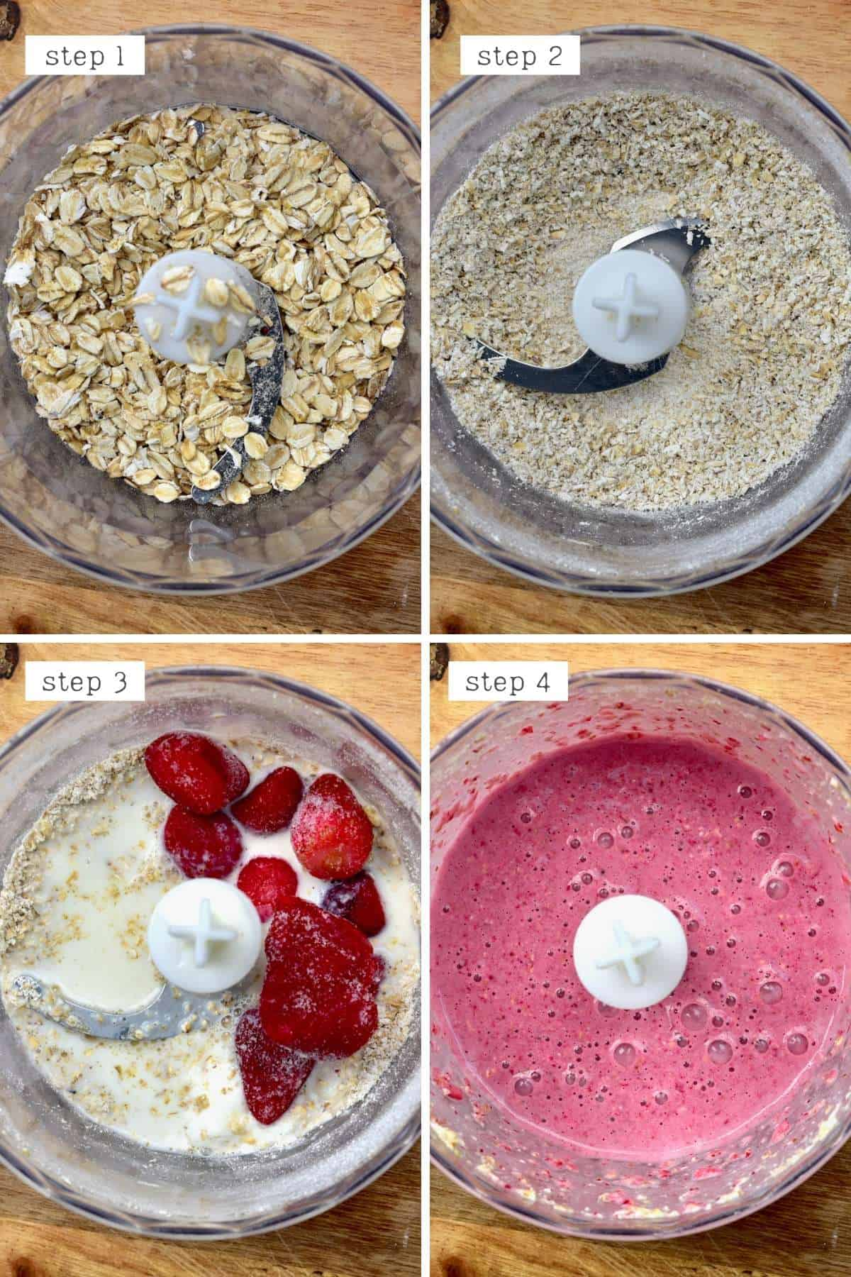 Steps for making strawberry oats