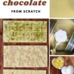Steps for making white chocolate