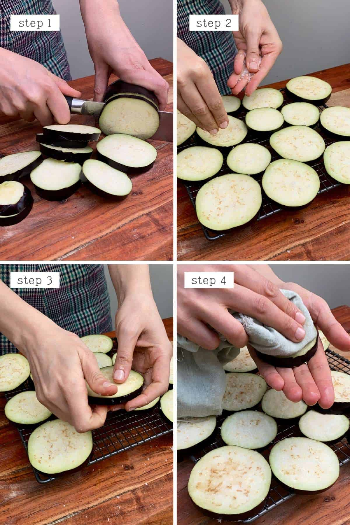 Steps for preparing eggplant