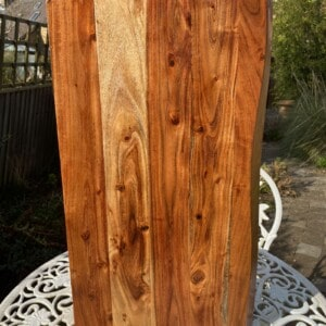 A clean wooden board drying out in the sun