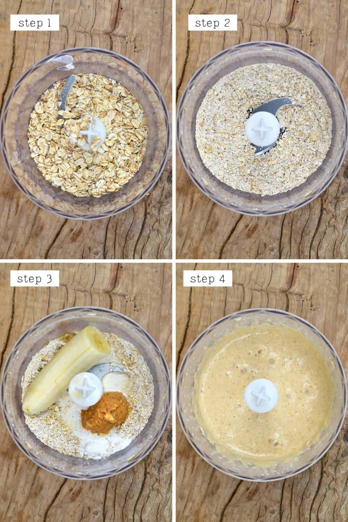 Steps for making peanut butter oats