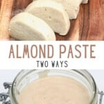 Two versions of almond paste