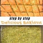 Steps for making baklava