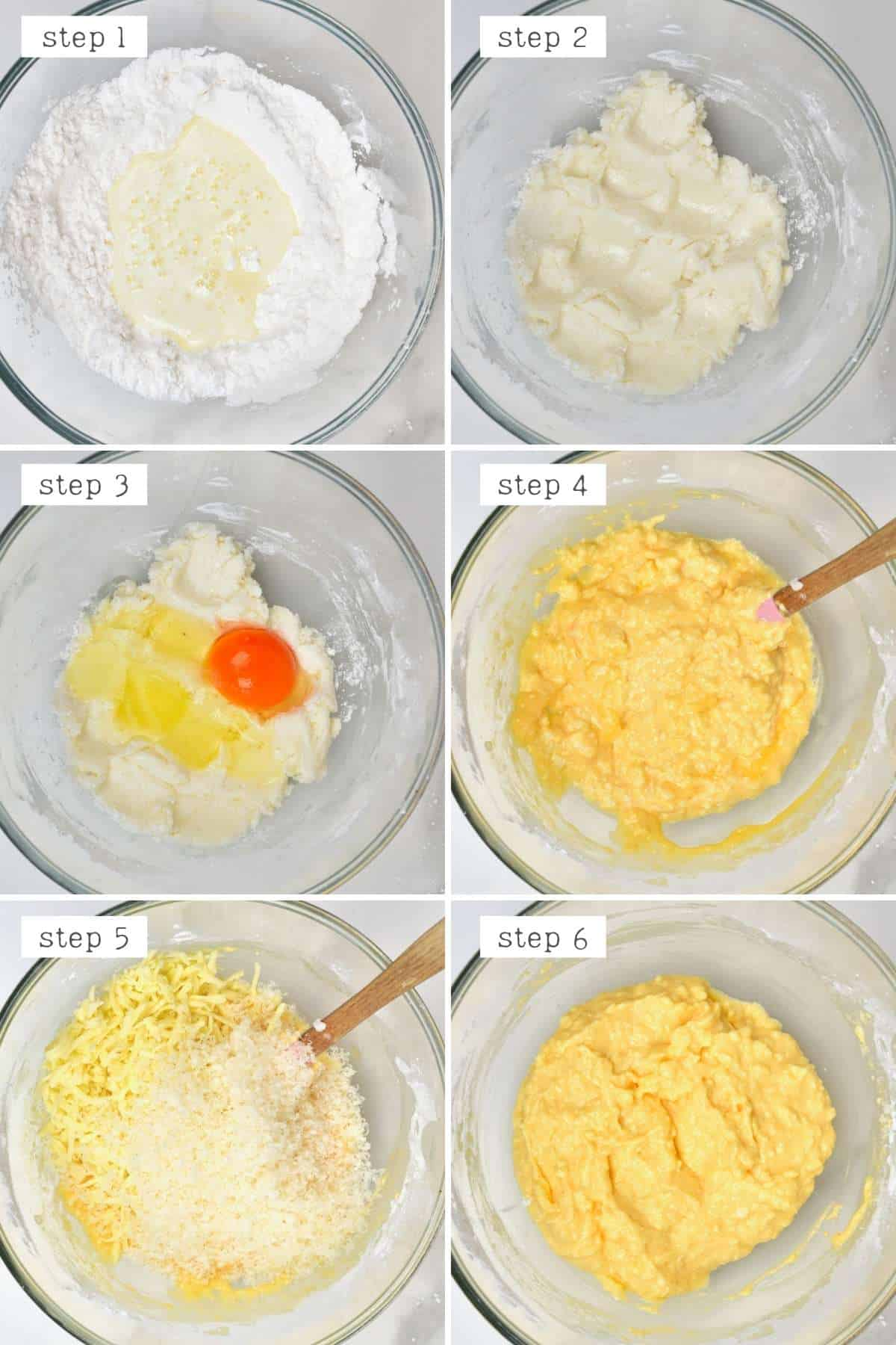 Steps for preparing cheese balls