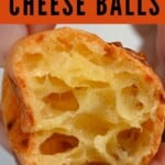 Once Brazilian cheese ball cut in two