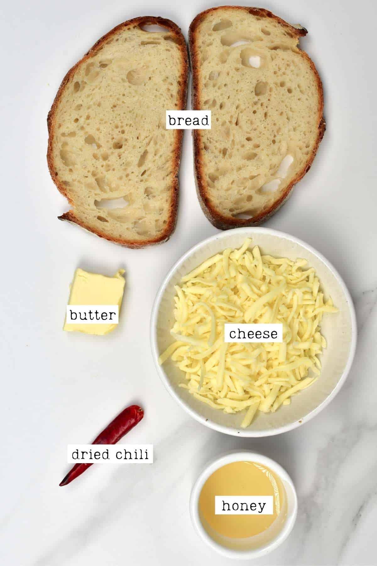 Cheese Toastie Ingredients