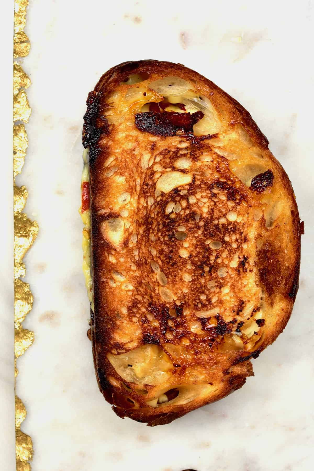 Cheese Toast on a flat surface