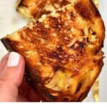 A half of Cheese toastie