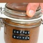 Coffee peanut butter in a jar