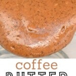 A close up of coffee peanut butter