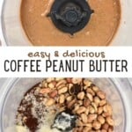 Making coffee peanut butter