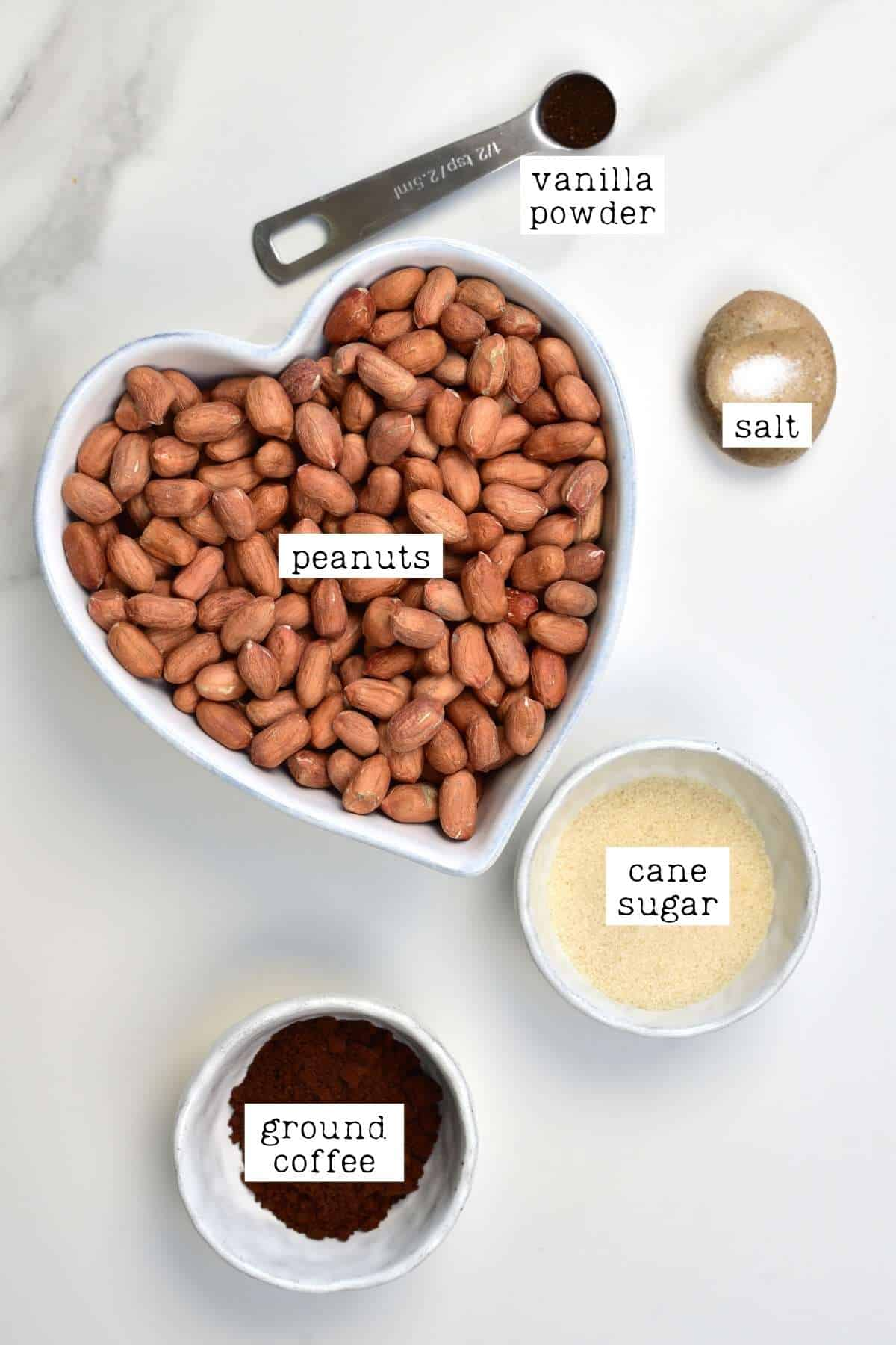Ingredients for Coffee Peanut Butter