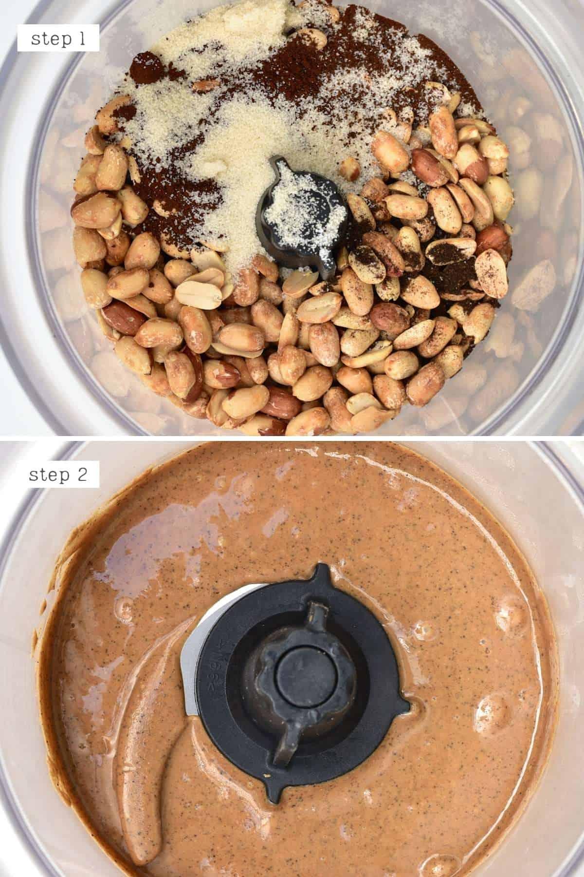 Steps for blending coffee peanut butter