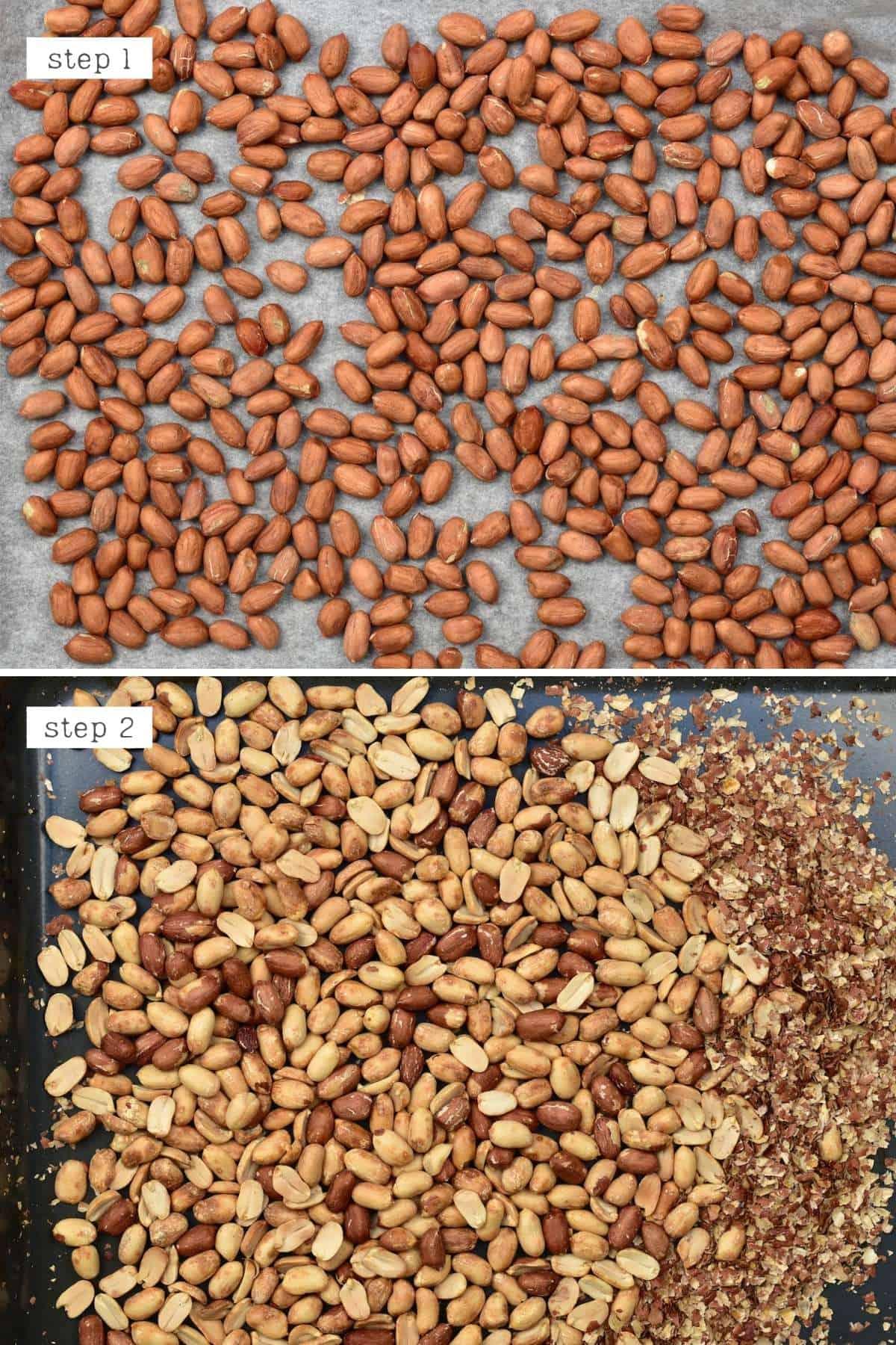 Toasting peanuts