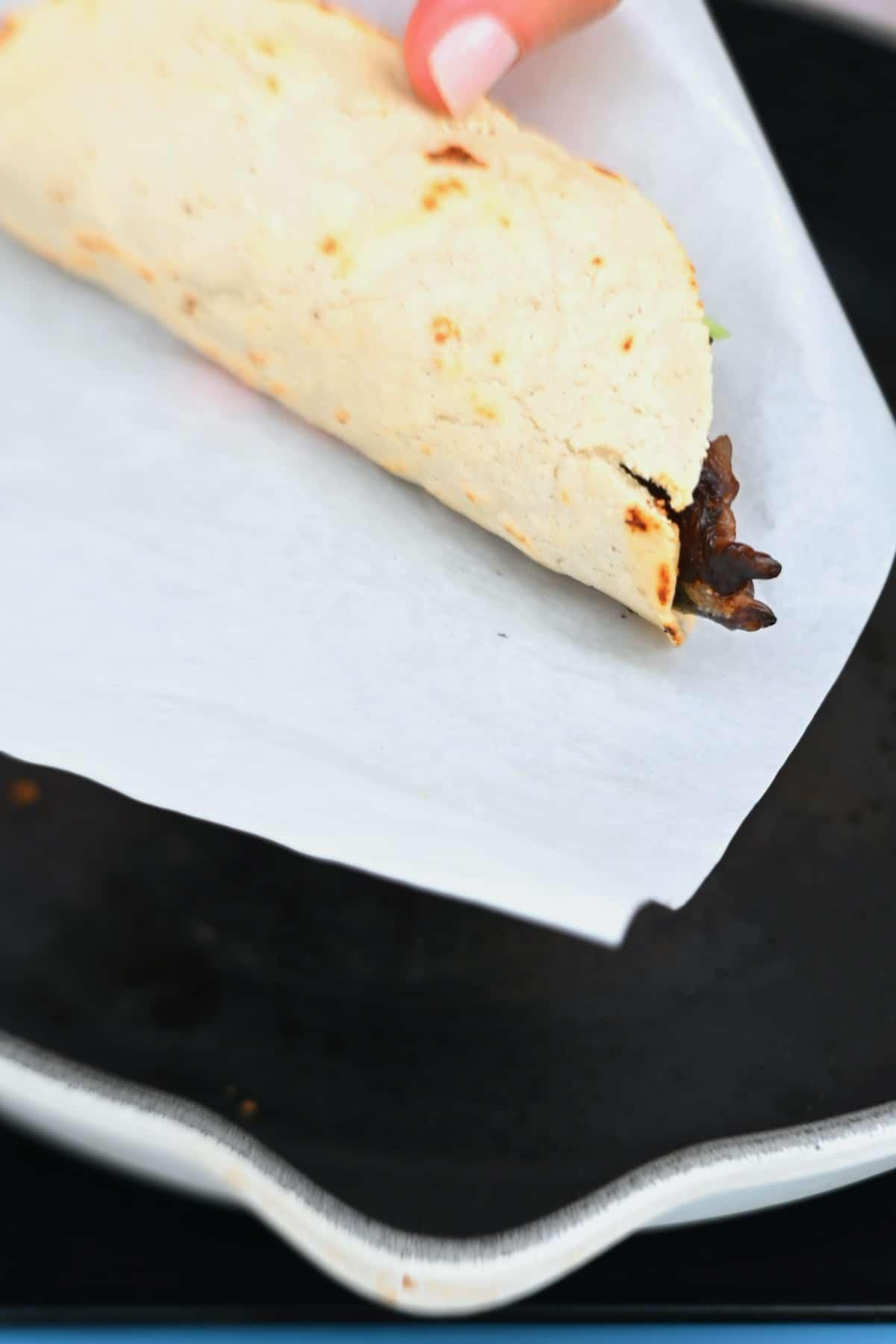 Folded taco
