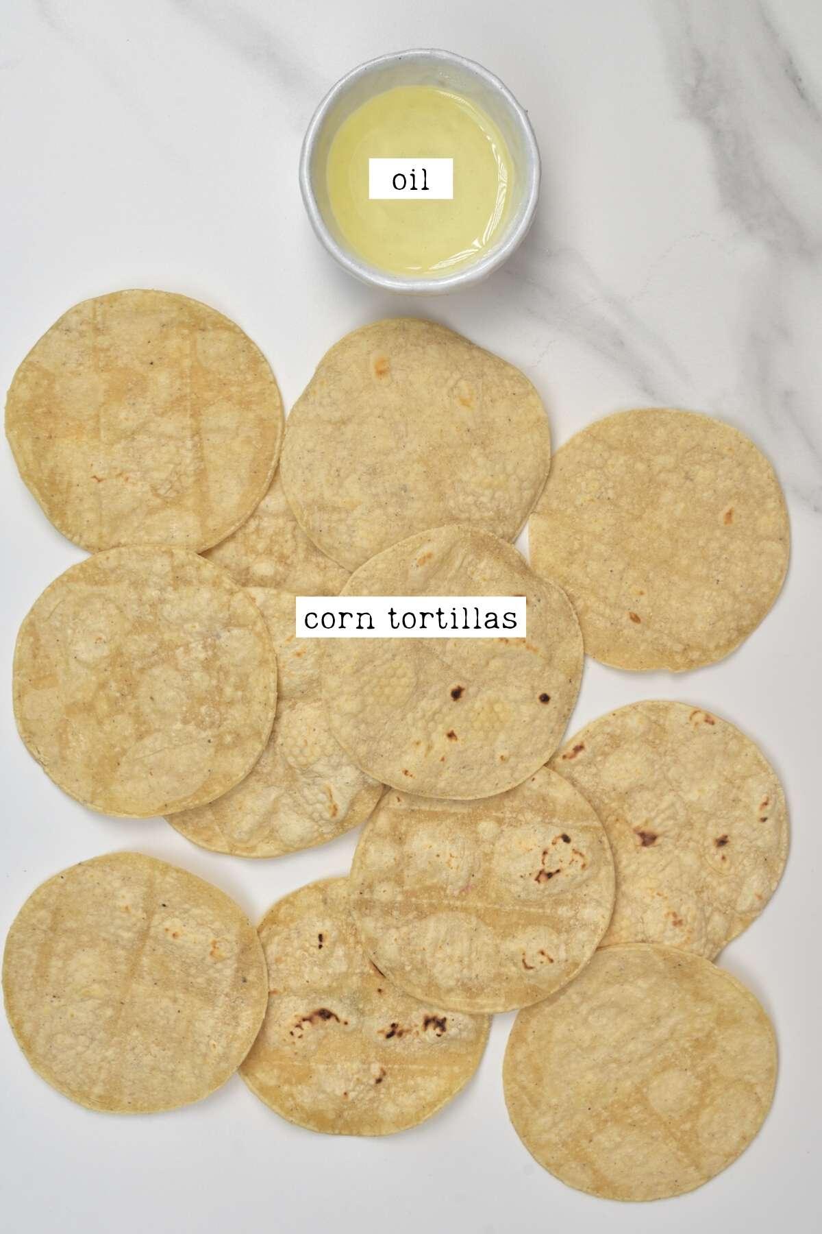 Corn tortilla chips Ingredients