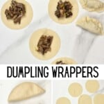 Steps for making dumplings with homemade wrappers