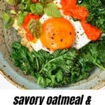 Savory oatmeal with egg