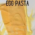 Making egg pasta
