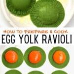 Steps to make Egg ravioli