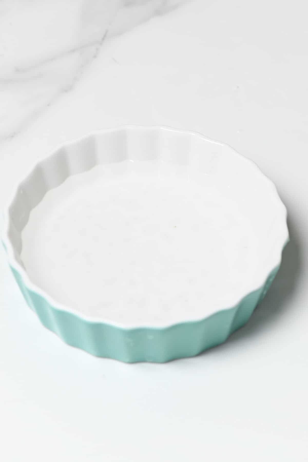 A bowl with salty water