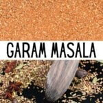 Garam Masala and spices on a pan