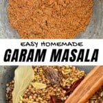Garam Masala in a bowl and spices for Garam Masala in another bowl