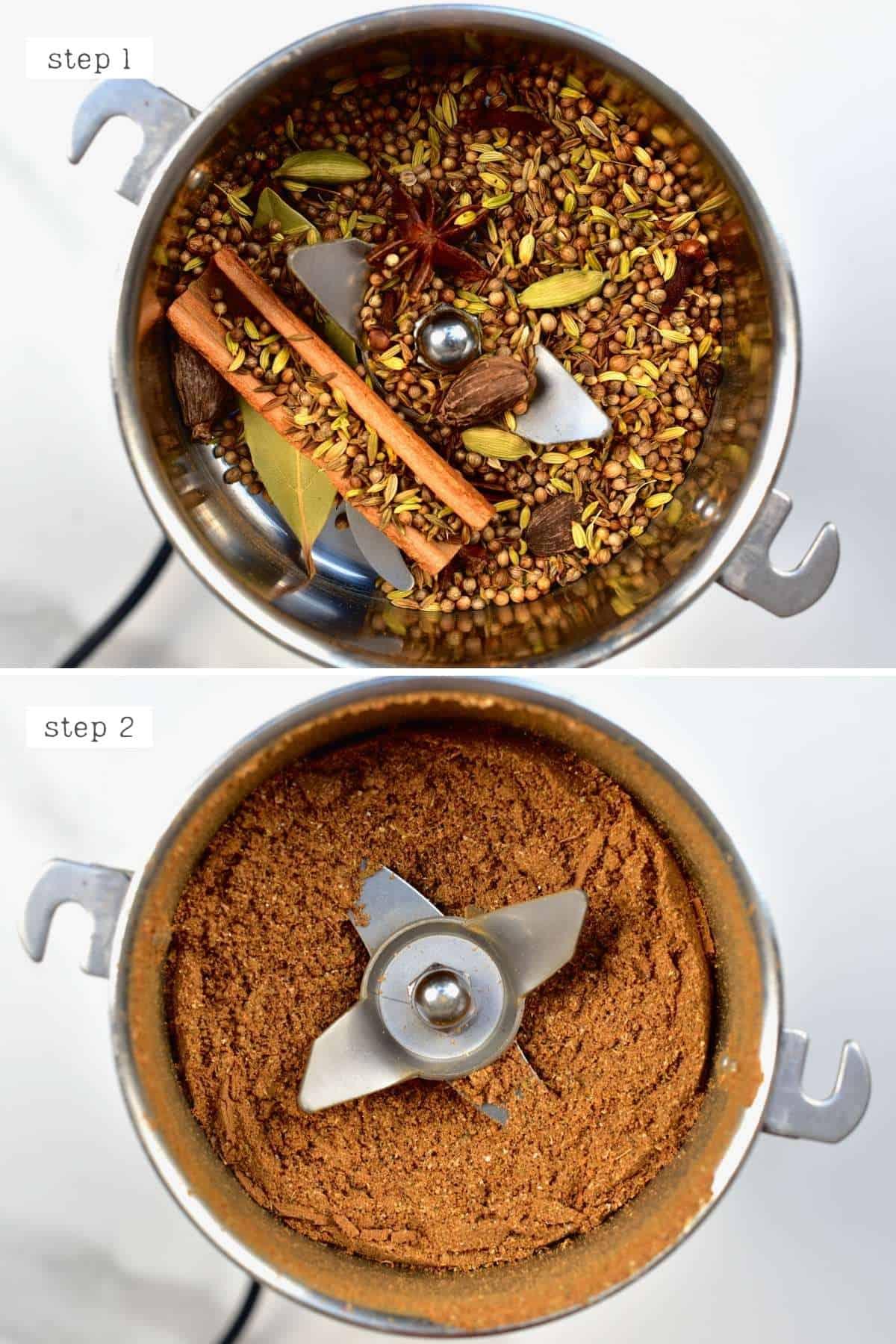 Steps for making garam masala