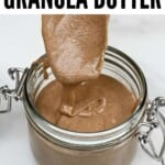 A spoonful of granola butter